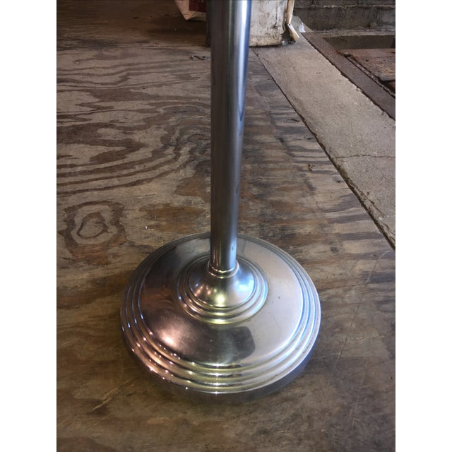 Machine Age Industrial Chrome Smoking Stand - Image 6 of 10