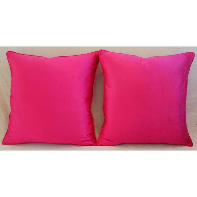 Custom Hot Fuchsia Pink Velvet Pillows - a Pair - Image 4 of 11
