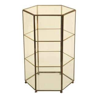 Tabletop Glass & Brass Display Case