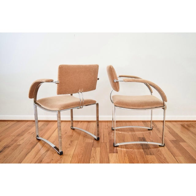 Image of Vintage Giovanni Offredi for Saporiti Italia Dining Chairs - Set of 4