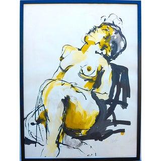 """""""Sunbathing"""" Original Ink Drawing"""