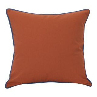 Paradise Collection Persimmon Red & Blue Welt Down Pillow