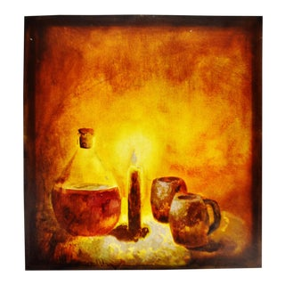 1993 Serxho Petrela Still Life Oil on Canvas Painting