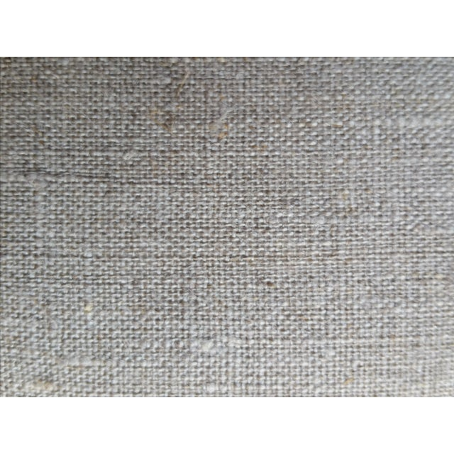 Over-Stitched Indigo Tribal Pillow - Image 6 of 6