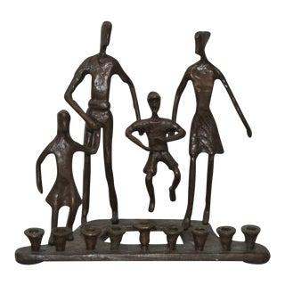 Bronze Menorah Family Group