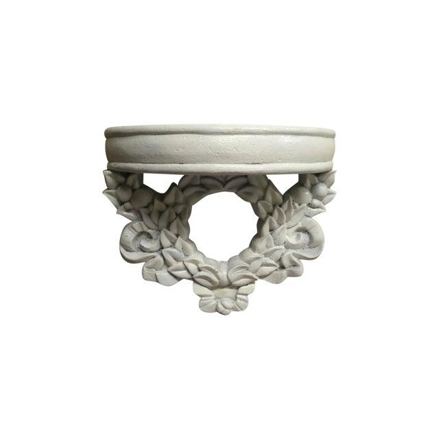 Image of White Wreath Semi-Circle Shelf