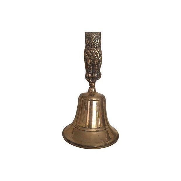 Image of Vintage Brass Owl Bell