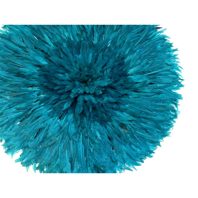 Ceremonial Turquoise Juju Hat Wall Hanging - Image 6 of 7
