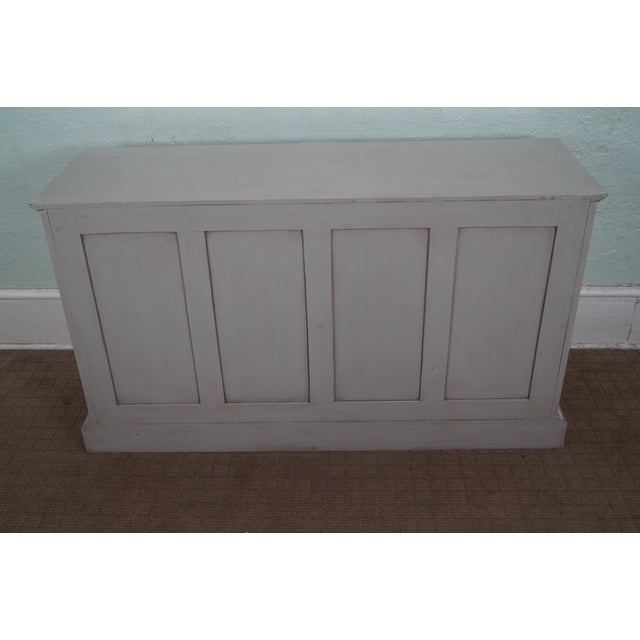 Image of French Made Painted Buffet Cabinet Signed Paris