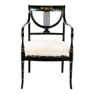 Black & Gold Armchair