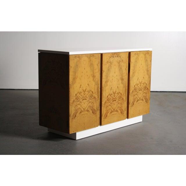 Milo Baughman Burl Wood 2-Tone Credenza Buffet - Image 8 of 11