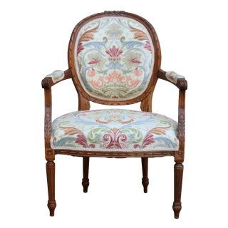 Louis XVI Balloon Back Fauteuil Chair