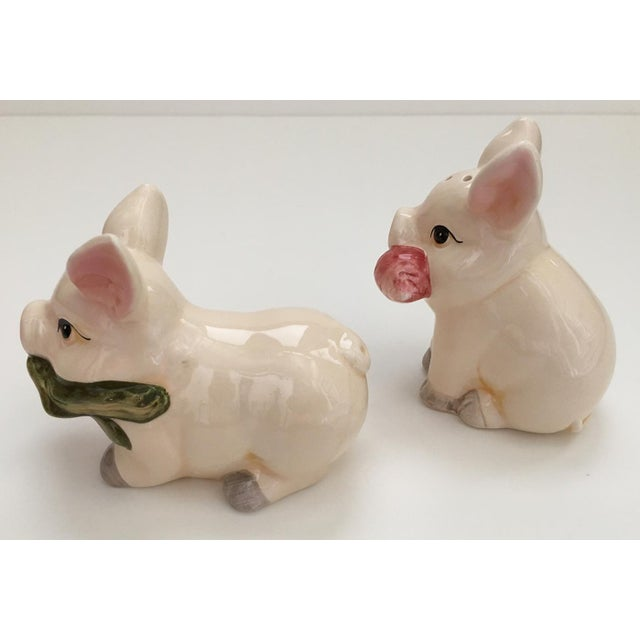 Image of Pig Salt & Pepper Shakers - A Pair