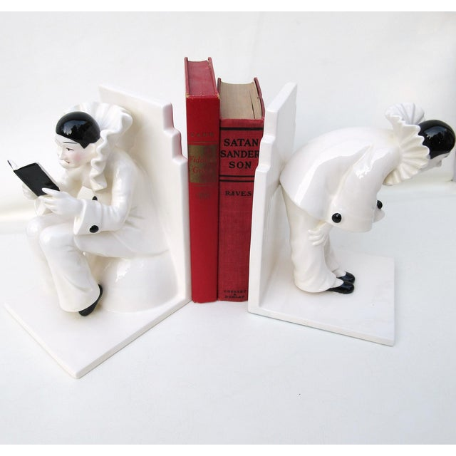Art Deco Ceramic Mime Bookends - A Pair - Image 4 of 7