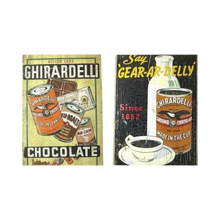 1915 Chocolate Billboard Ghirardelli SF Sign