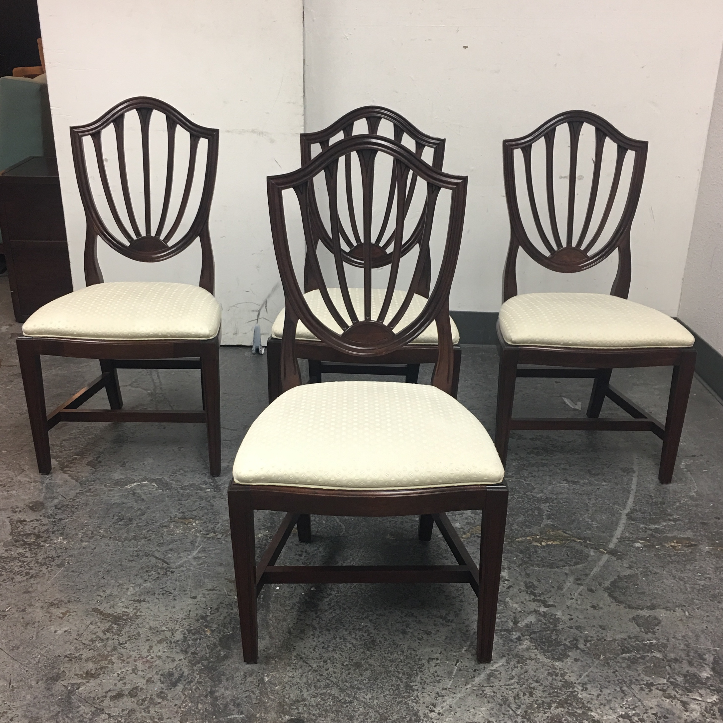 ethan allen shield back dining chairs set of 4 image 2 of 10