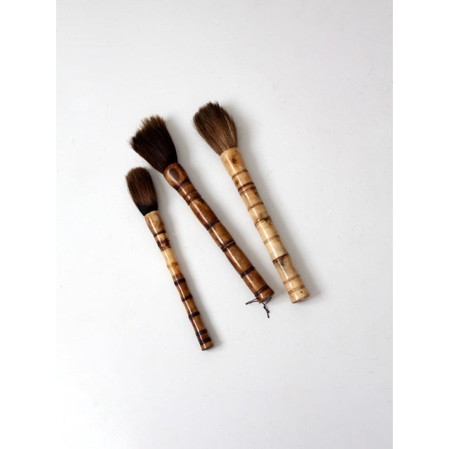 Antique chinese calligraphy brush collection chairish