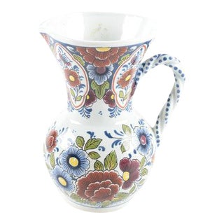 Delft Floral Pitcher