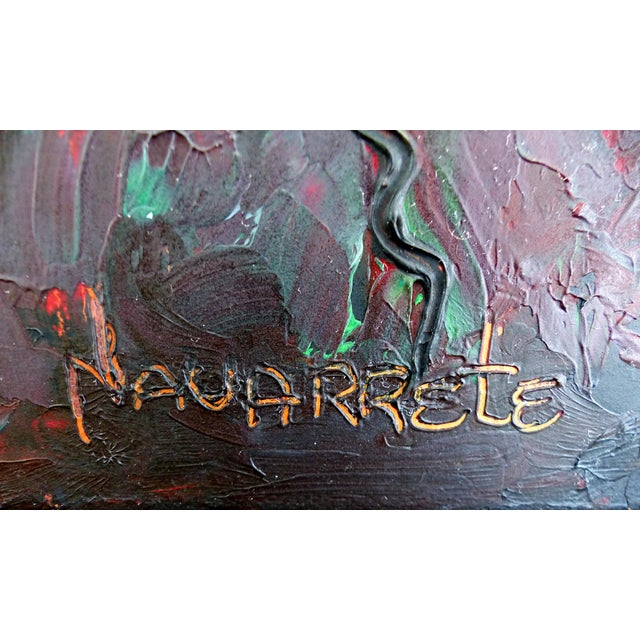 Contemporary Abstract Oil Painting by Cuban-American Artist Juan A. Navarrete - Image 7 of 9