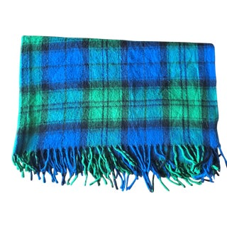 Faribault Blue & Green Wool Camp Blanket