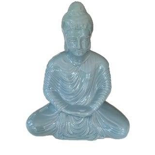 Ceramic Aqua Blue Buddha