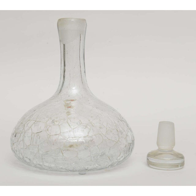 Crackled Glass Blenko Modern Decanter - Image 8 of 10