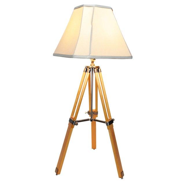 Vintage Adjustable Tri-Pod Lamp - Image 3 of 6