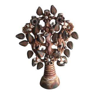 Terra Cotta Tree of Life Candelabra