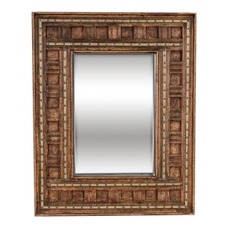 Sarreid Ltd Vintage Wood & Brass Mirror
