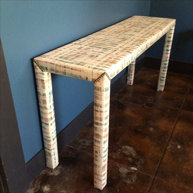 Upholstered Sofa Table - Image 6 of 11