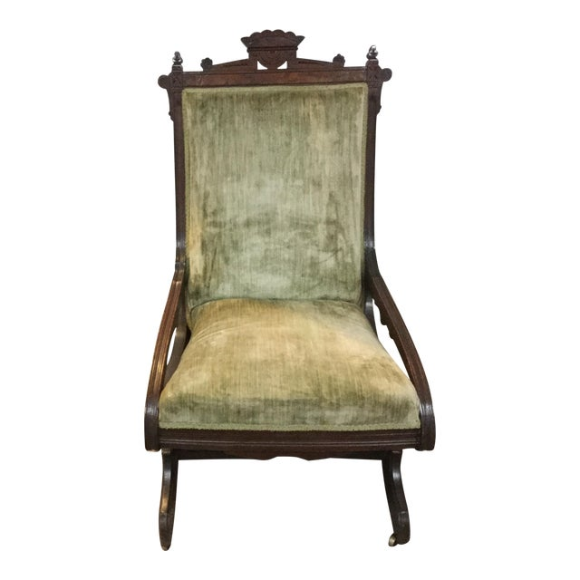 Antique East Lake Rocker - Image 1 of 6