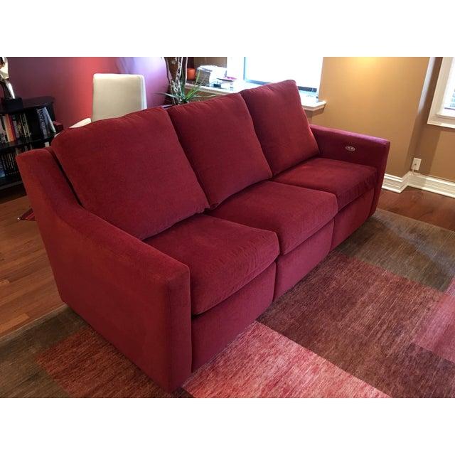 Dual Reclining Pindler Fabric Sofa - Image 3 of 7