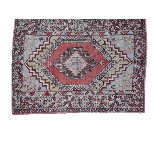 "Leon Banilivi Oushak Wool Rug- 3'7"" X 4'10"" - Image 3 of 5"