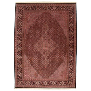 """Persian Tabriz Style Hand Knotted Silk & Wool Rug -- 8'5"""" x 11'7"""""""