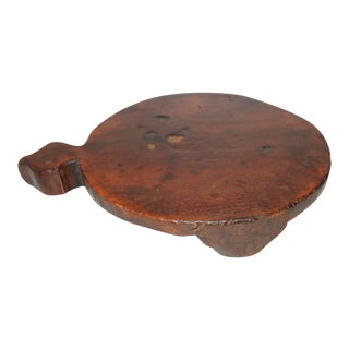 Early 19th Century Round Cutting Board on Feet