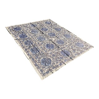 King Size Crochet Handmade Suzani Bedspread