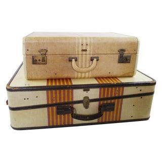 Vintage Luggage Set - A Pair