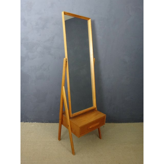Mid Century Arne Vodder Cheval Mirror - Image 2 of 5