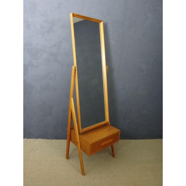 Image of Mid Century Arne Vodder Cheval Mirror