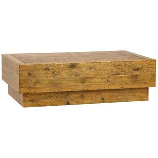 Oak & Pine Block Coffee Table