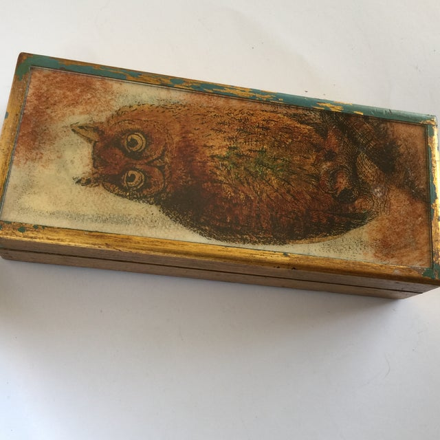 Mid-Century Distressed Owl Box - Image 9 of 9