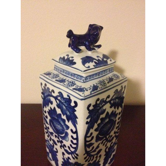 Image of Blue and White Chinoiserie Ginger Jar