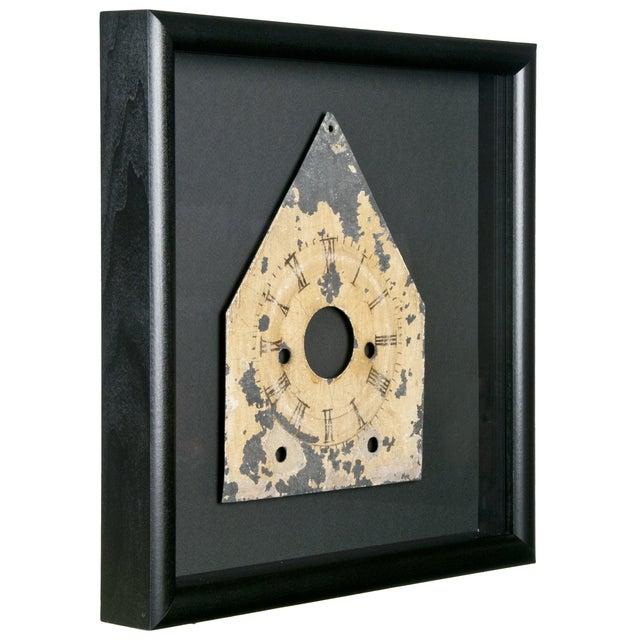 Framed Antique Galvanized Metal Clock Face - Image 2 of 2