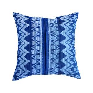 "Javanese ""Indigo Ratu"" Ikat Pillow"
