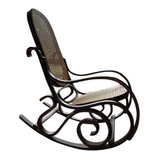 Bentwood Cane Back Rocking Chair