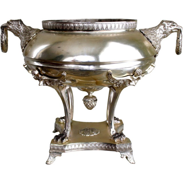 Silver Plated Jardiniere with Eagle Handles - Image 1 of 4
