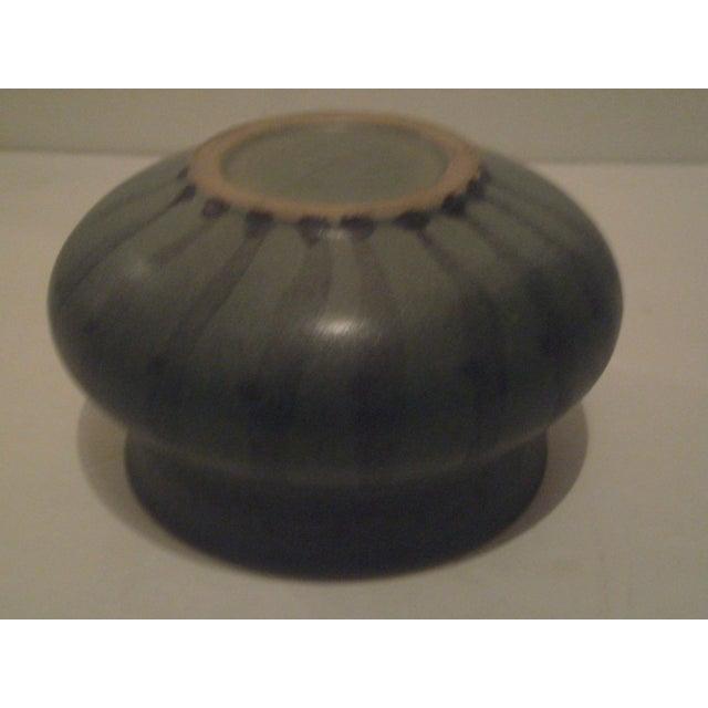Green Striped Art Pottery Pot - Image 7 of 7