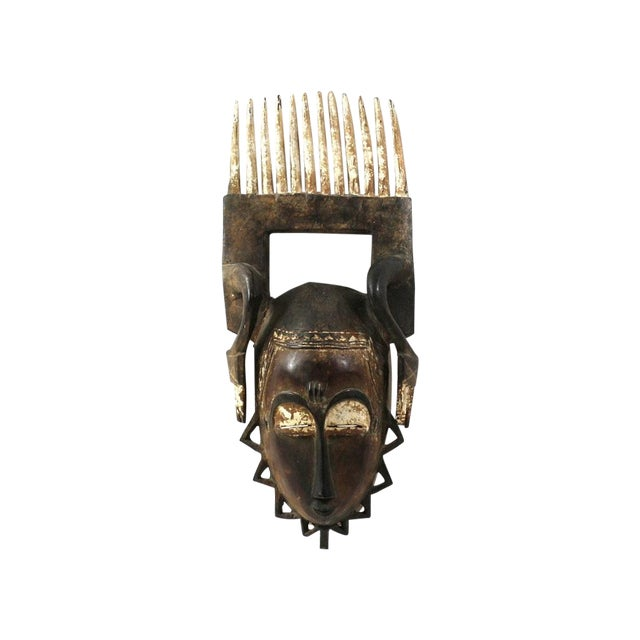 Image of Baue Mblo Mask with Comb, African Ivory Coast