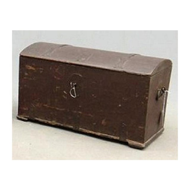 Antique 1780 Painted Trunk - Image 2 of 5