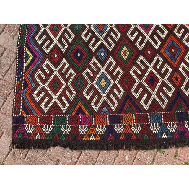 Vintage Turkish Kilim Rug- 7′1″ × 9′10″ - Image 9 of 10